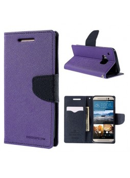 Korean Mercury Fancy Diary Wallet Case for HTC One M9 - Purple