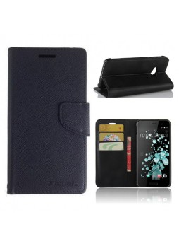 Mooncase Stand Wallet Case For HTC U Play Black