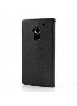 Korean Mercury Wallet Case for HTC One Max - Black