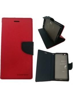 Korean Mercury Fancy Dairy Wallet Case For Oppo F1S - Red