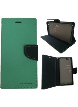 Korean Mercury Fancy Dairy Wallet Case For Oppo F1S - Mint