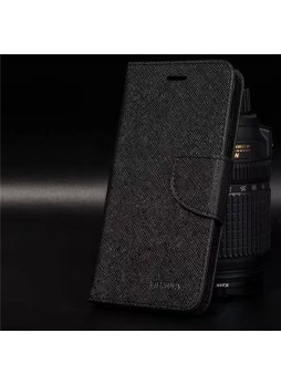 Korean Mercury Fancy Diary Wallet Case For Oppo R11 - Black