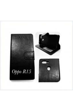 Wallet Case For oppo  R15 BLK