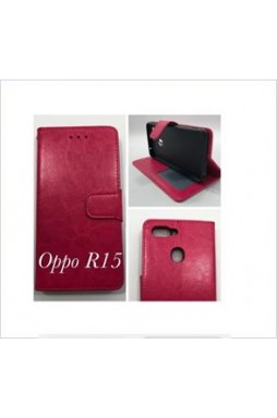 Wallet Case For oppo  R15 hotpink