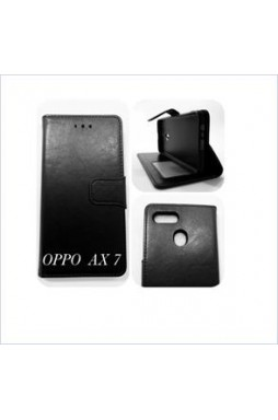 Wallet Case For oppo  AX7/A7 BLK