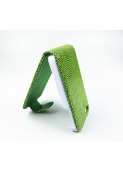 Snake Skin Synthetic Leahter Flip Case for iPhone 4S / 4 - 3 Color