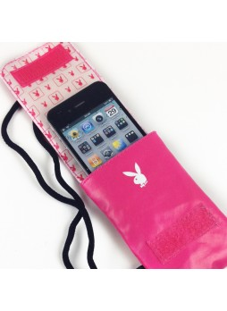 Playboy Universal Vertical Pouch with Lanyard - Hot Pink