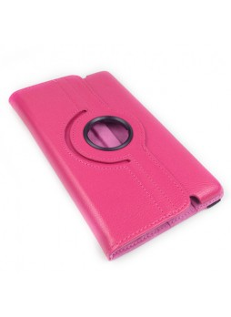 360 Degree Rotary Case Cover for Google Nexus 7 II 2013 - Hot Pink
