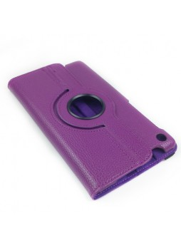 360 Degree Rotary Case Cover for Google Nexus 7 II 2013 - Purple