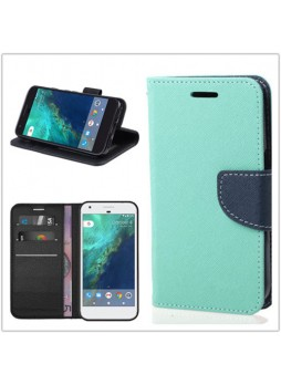 Mooncase Stand Wallet Case For Telstra Google Pixel - Mint