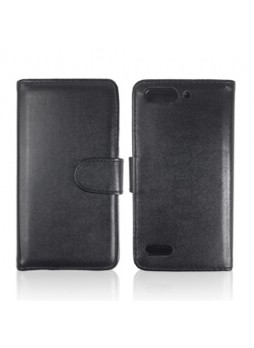 Synthetic Leather Wallet Case Cover for Huawei Ascend G6 - Black