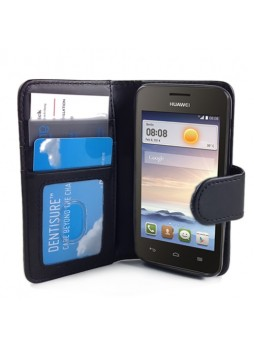 Synthetic Leather Wallet Case for Huawei Ascend Y330