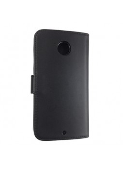 Synthetic Leather Wallet Case for Google Nexus 6 - Black