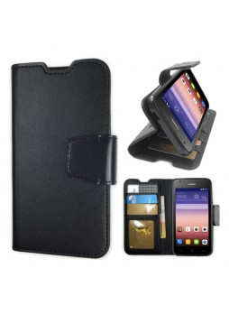 Synthetic Leather Wallet Case for Huawei Ascend Y550