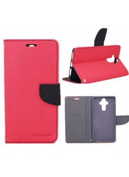 Mooncase Stand Wallet Case For Huawei Mate 9 Hot Pink