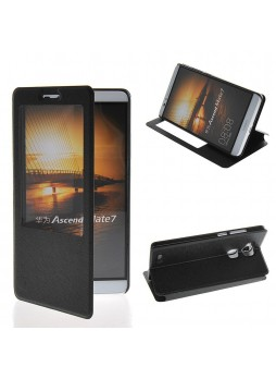 Huawei Ascend Mate 7 Window View Flip Cover - Black