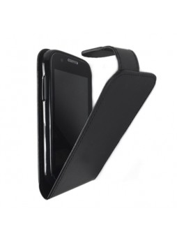 Telstra Evolution T80 Synthetic Leather Flip Case - Black