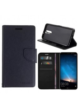 Mooncase Stand Wallet Case For Huawei Nova 2i - Black!!!