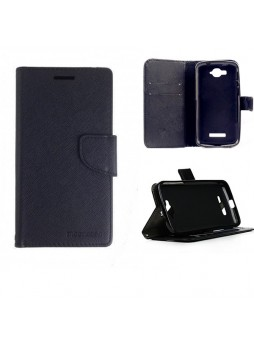 Mooncase Stand Wallet Case for Alcatel POP C7 Black