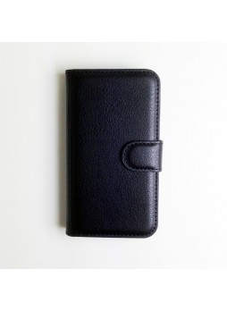 Synthetic Leather Wallet Case for  Alcatel One Touch M'Pop Black