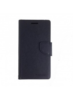 Universal Fancy Diary Stand Wallet Case Size 5 - Black