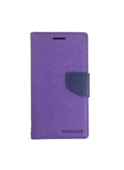 Universal Fancy Diary Stand Wallet Case Size 6 - Purple