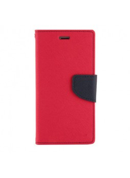 Universal Fancy Diary Stand Wallet Case Size 6 - Red