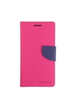 Universal Fancy Diary Stand Wallet Case Size 7 - Hot Pink