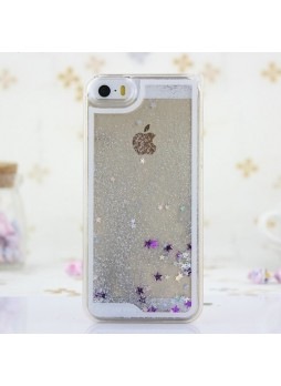 Romantic Glitter Quicksand Back Case for iPhone 4 / 4S - Silver