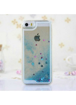 Romantic Glitter Quicksand Back Case for iPhone 4 / 4S - Blue