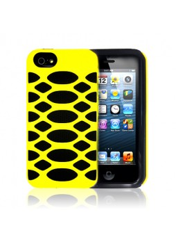 Heavy Duty Anti-Shock Bubble Case Cover for Apple iPhone 5 5S - Yellow
