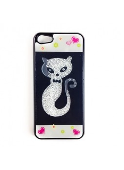 Bling Bling Crystal Diamond Case Cover for iPhone 5 / 5S - Cat