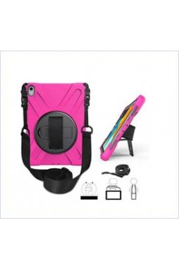 3 in1 Defender heavy Duty Case For New Ipad 9.7'' (2018) Hotpink