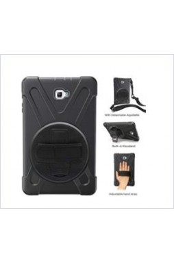 3 in1 Defender heavy Duty Case For  Samsung TAB A 10.5  T590 Black