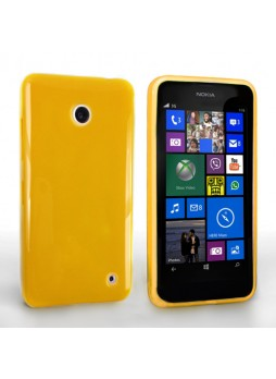 TPU Gel Case Cover for Nokia Lumia 630 - Yellow
