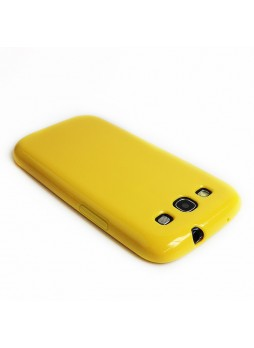 Glitter TPU Gel Case for Samsung Galaxy S3 - Yellow