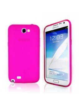 TPU Gel Case for Samsung Galaxy Note2 - Hot Pink