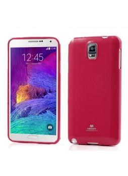 Korean Mercury Pearl TPU Case for Samsung Galaxy Note 4 - Hot Pink