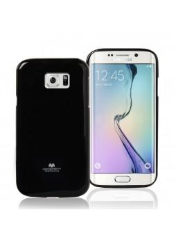 Korean Mercury Pearl TPU Gel Case Cover for Samsung Galaxy S6 Edge - Black