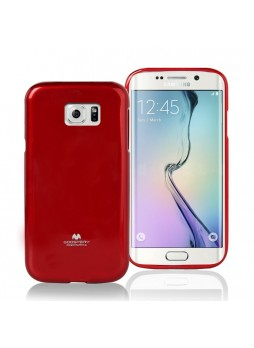Korean Mercury Pearl TPU Gel Case Cover for Samsung Galaxy S6 Edge - Red
