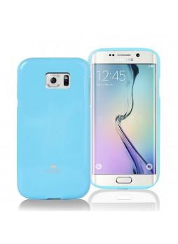 Korean Mercury Pearl TPU Gel Case Cover for Samsung Galaxy S6 Edge - Blue