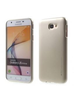 Mercury Goospery iJelly Gel Case For Samsung Galaxy J5 Prime - Gold
