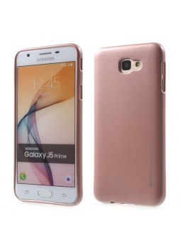 Mercury Goospery iJelly Gel Case For Samsung Galaxy J5 Prime - Rose Pink