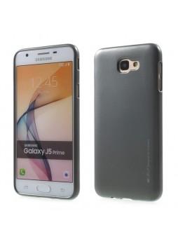 Mercury Goospery iJelly Gel Case For Samsung Galaxy J5 Prime - Dark Grey