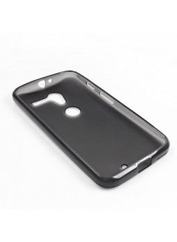 TPU Gel Case Cover for Motorola Moto X - Smoke Black