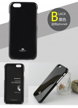 Mercury Pearl TPU Gel Case for iPhone 6 - Black