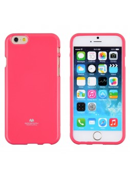 Mercury Pearl TPU Gel Case for iPhone 6 - Hot Pink