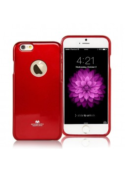 iPhone 6 Plus Korean Mercury Pearl TPU Case Back Window - Red