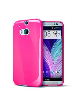 TPU Gel Case Cover for HTC One M8 - Hot Pink