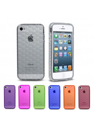 TPU Gel Bubble Case Cover for iPhone 4/4S - 6 color